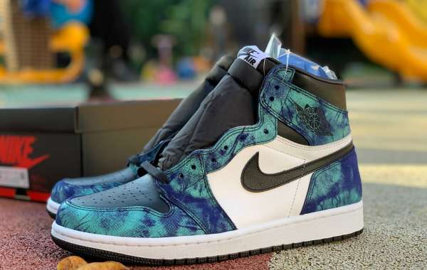 """First Outline:Latest CD0461-100 Air Jordan 1 High OG """"Tie-Dye"""" to release on June 11th"""